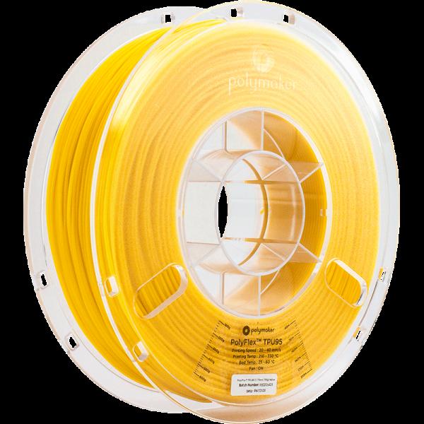 Polymaker PolyFlex TPU95 Filament Gelb 1.75mm 750g