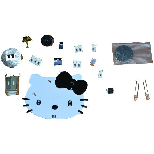 Bausatz TuxCon Kitty programmierbare Anstecknadel mit LEDs