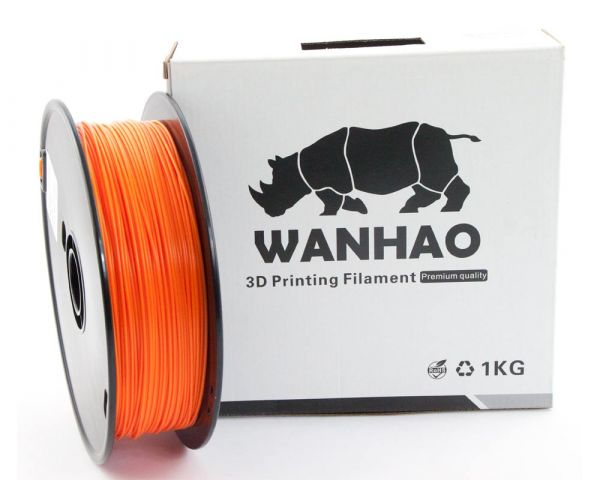 Wanhao ABS Filament Orange 1.75mm 1kg