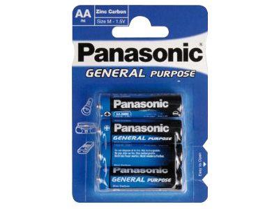 4 Stück Panasonic Batterie Mignon AA General R6 1.5V