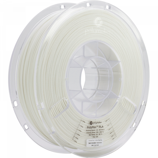 Polymaker PolyMax PLA Filament Weiss (white) 1.75mm 750g