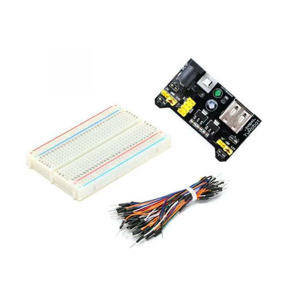 Breadboard 400 Set 3.3V/5V Stromversorgung + 65 Jumperkabel