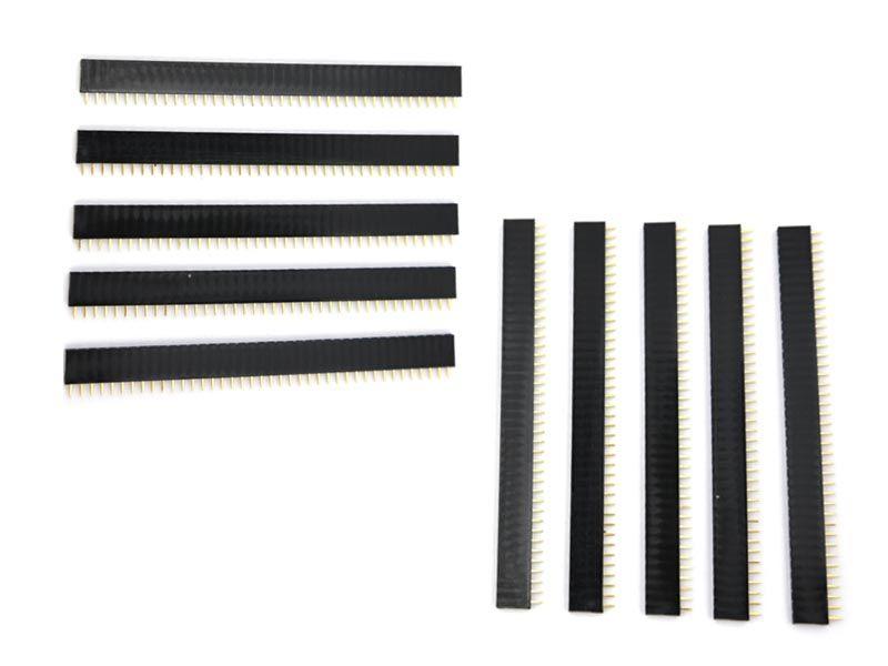 10x 40 Pin 2-54 mm Buchsenleiste einreihig