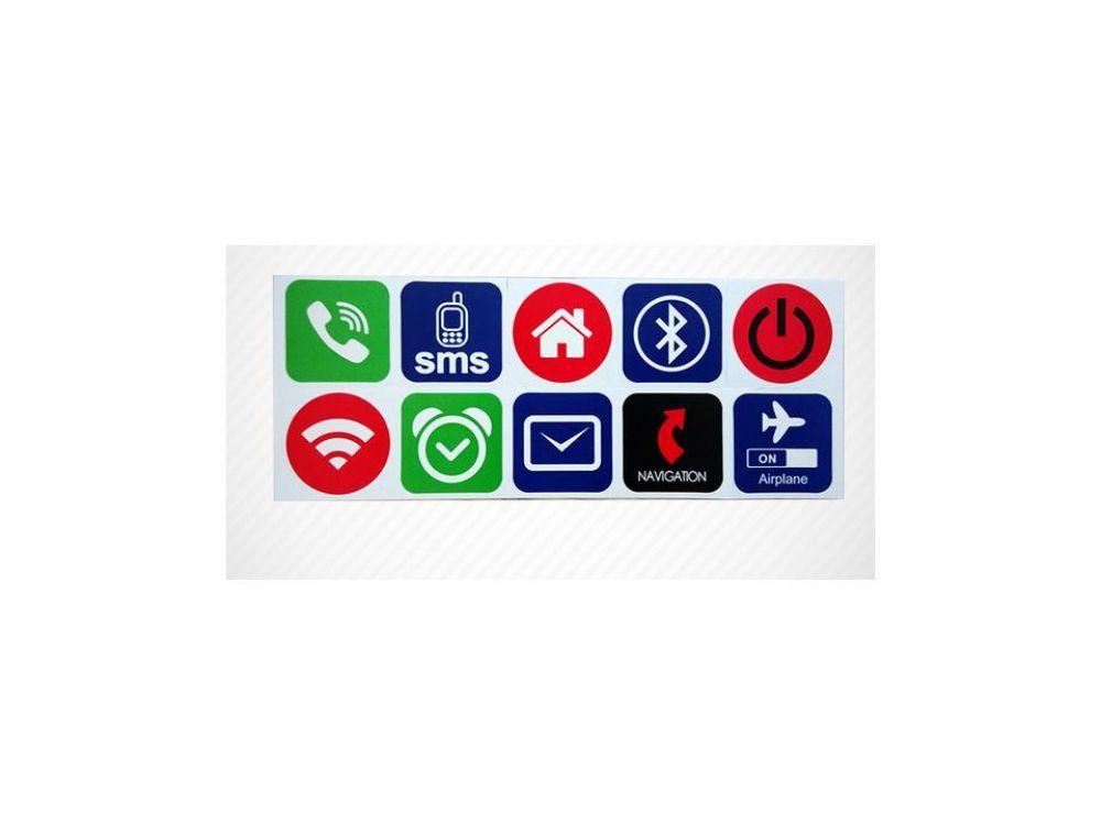 10er Set NFC Ntag 216 Aufkleber Icons