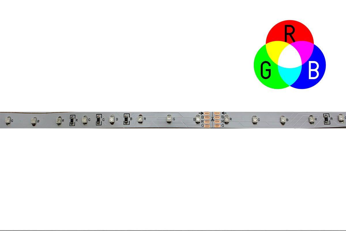 3528SMD LED Flex strip RGB - 30LEDs-m -10MM PCB