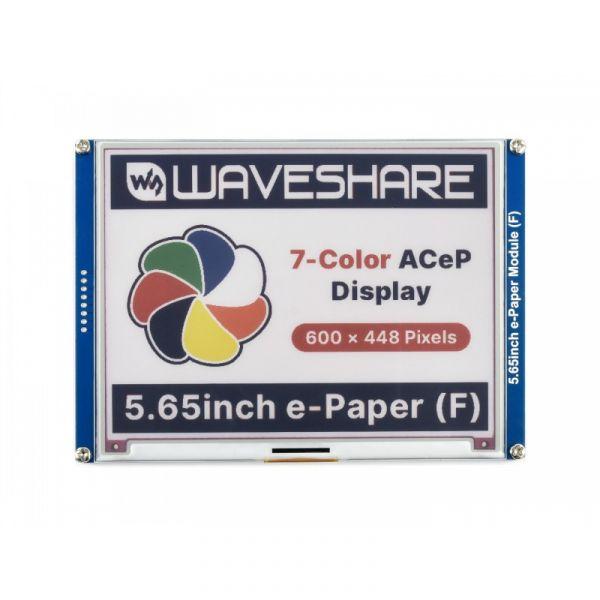 "Waveshare 600x488 5.65"" e-Paper Display Modul 7-farbig"