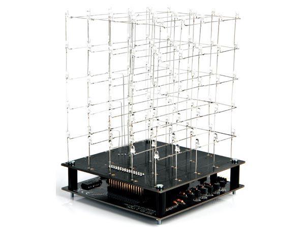 Bausatz: Velleman K8018B 3D LED-Cube 5 x 5 x 5 (Blaue LEDs)