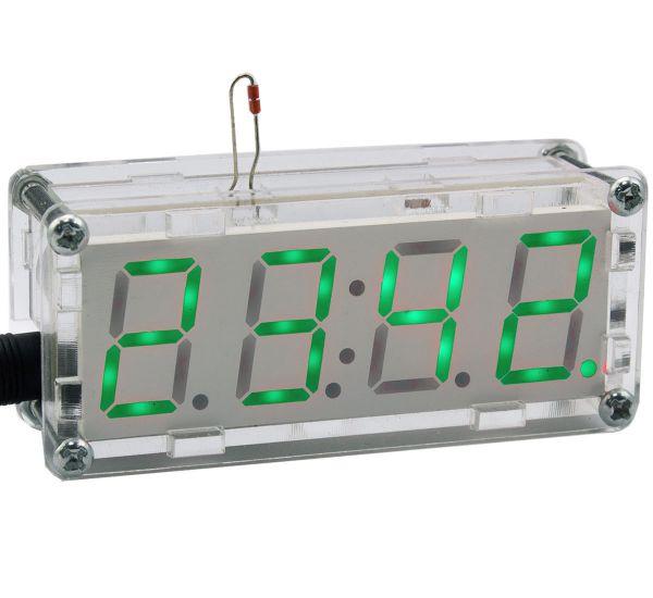 Bausatz  elektronische Uhr mit 4 Bit Display grün