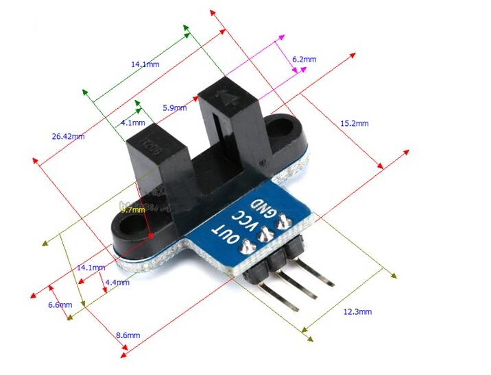 Raspberry Infrarot Entfernungsmesser : Infrarot geschwindigkeitssensor optokopplermodul arduino raspberry