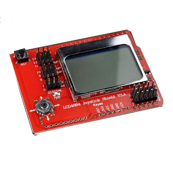 LCD 4884 Joystick Shield V3 mit Nokia 5510 Display 48x84