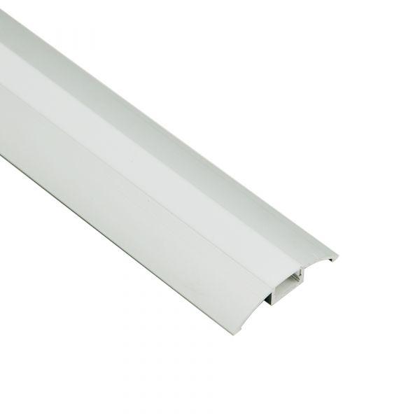 Aluminiumprofil Schiene Flach für Vitrinen 1m