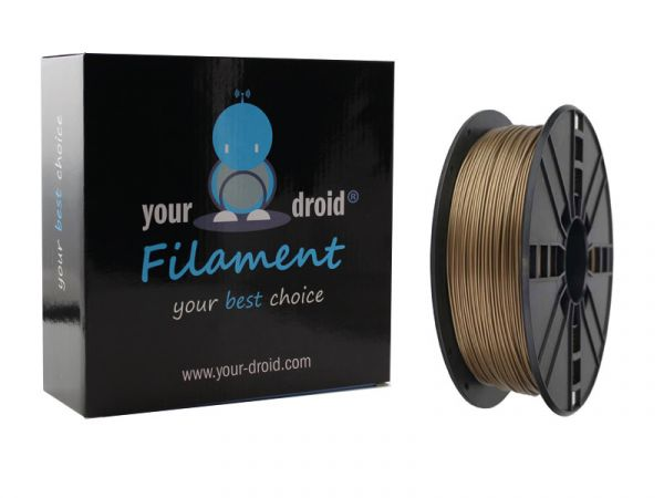 Your Droid ABS Filament Gold 1.75mm 1kg