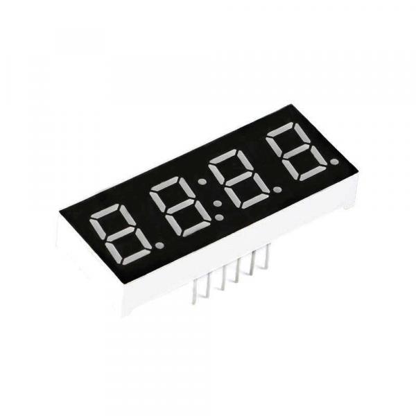 7-Segment Uhranzeige 4 Bit Clock Rot Common Cathode
