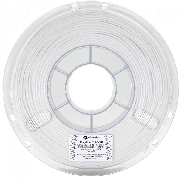 Polymaker PolyMax PC-FR Filament Weiss 1.75mm 1kg