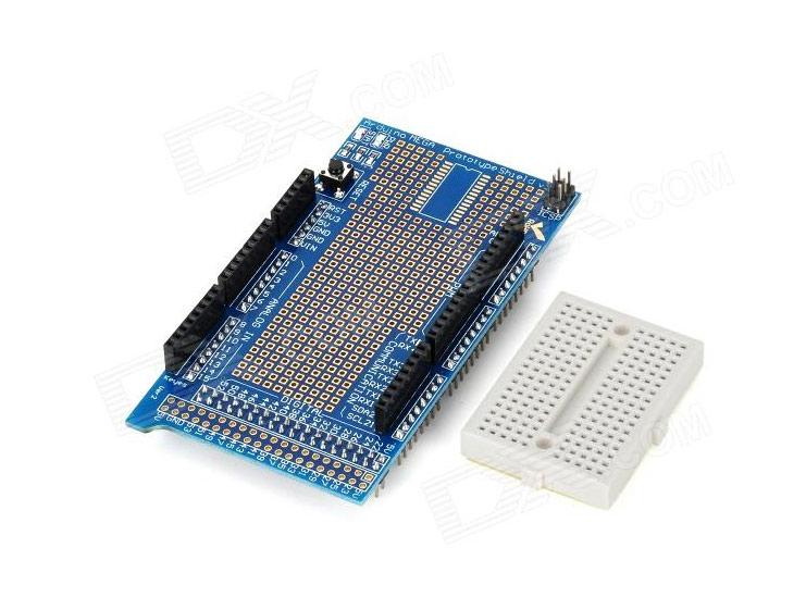 Prototype shield protoshield v with mini breadboard for