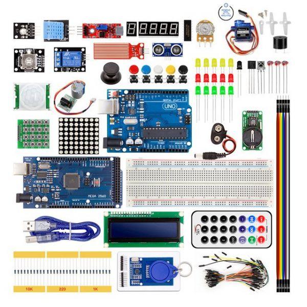 Starter Kit für Arduino Uno R3 & Mega 2560 im Kunststoffkasten