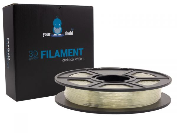 yourDroid TPU filament transparent 1.75mm 500g