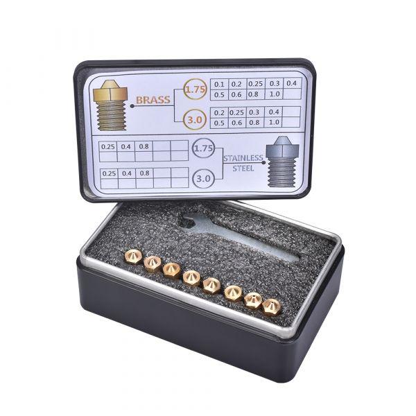 M6 Messingdüse Sortiment 1.75mm 8 Stück