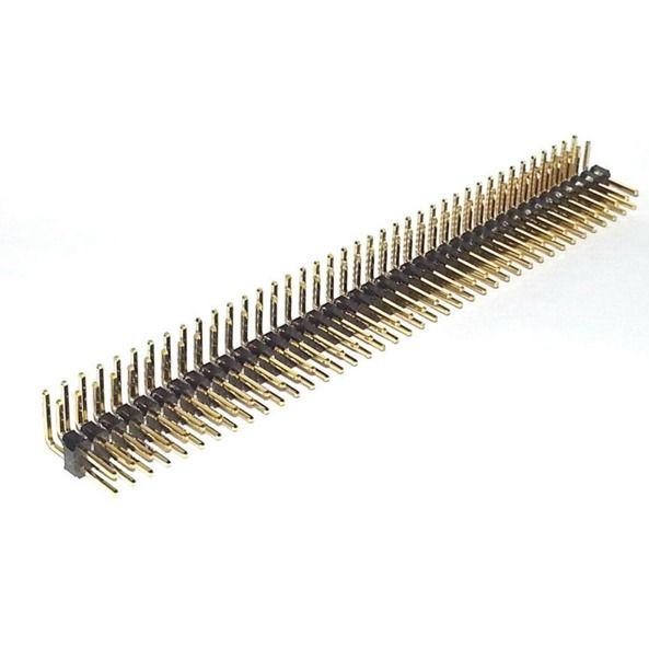 10x 40 Pin 2,54mm Stiftleiste zweireihig gewinkelt