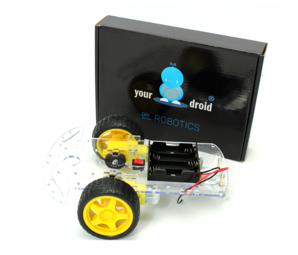 yourDroid 2WD Smart Car Chassis für DIY Roboter