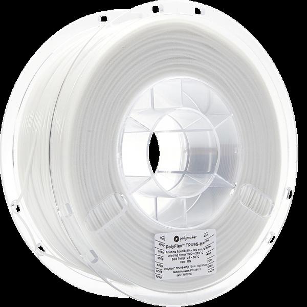 Polymaker PolyFlex TPU95-HF Filament Weiss 1.75mm 1kg