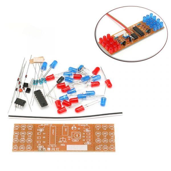 Bausatz: LED Stroboskop rot / blau