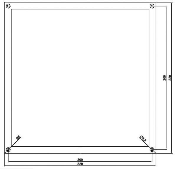 Aluminium Rahmen 220x220mm plangefräst