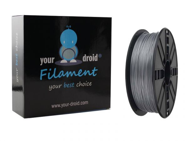 Your Droid ASA Filament Silver 1.75mm 1kg