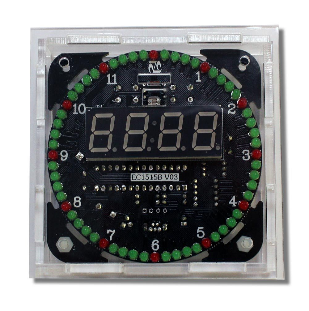 Bausatz: DS1302 Rotation LED Uhr mit Gehäuse