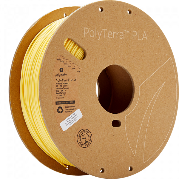 Polymaker PolyTerra PLA Filament Banana 1.75mm 1kg