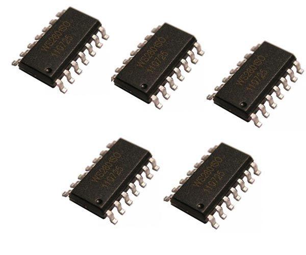 5x WS2801SO 3-Kanal LED-Treiber mit integrierter Konstantstromquelle