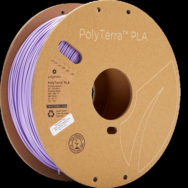 Polymaker PolyTerra PLA Filament Lavender Purple 1.75mm 1kg