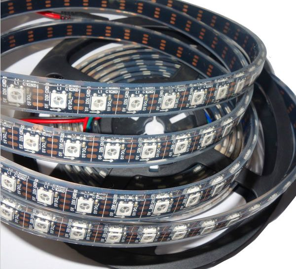 5 Meter WS2812B LED Strip WASSERDICHT 5050RGB DC5V 60LEDs-m