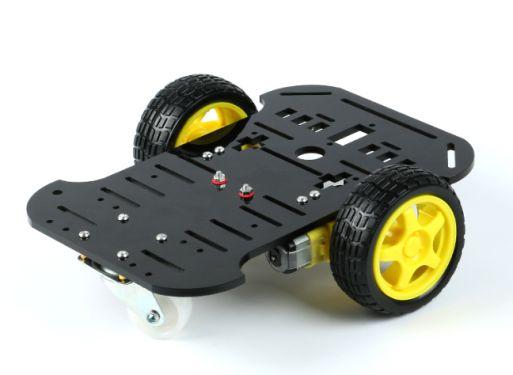 2WD Smart Car Chassis Plattform für Arduino Roboter (schwarz)