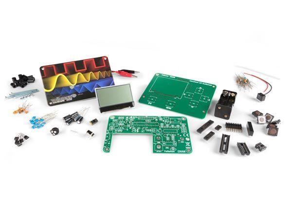 EDU08 Bausatz: Oszilloskop Lernpaket mit LCD-Display