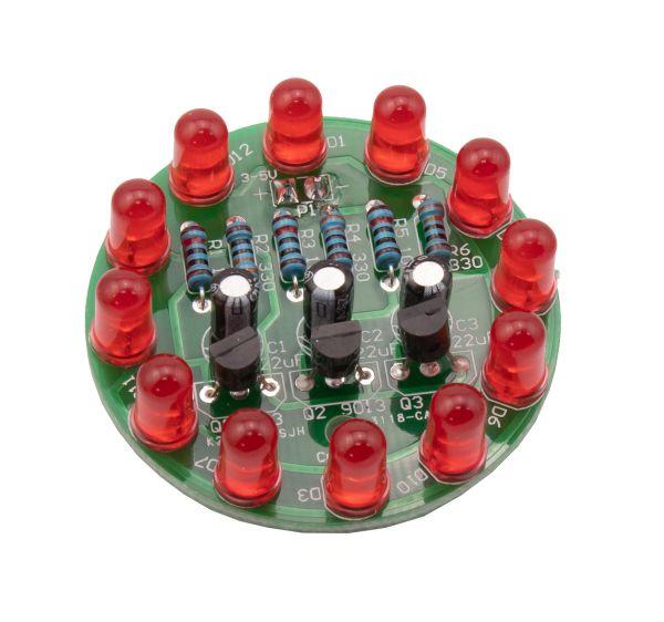 Bausatz LED-Lauflicht zum Löten rot