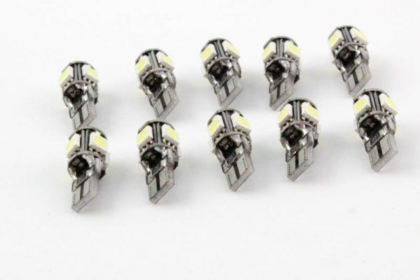 10er Set LED T10 w5w 12V CANBUS kalt weiß