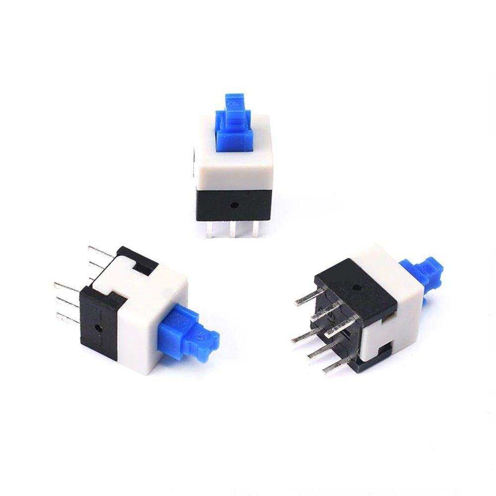 10 Stück Miniatur Druckschalter einrastend 8x8mm