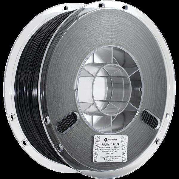 Polymaker PolyMax PC-FR Filament Schwarz 1.75mm 1kg
