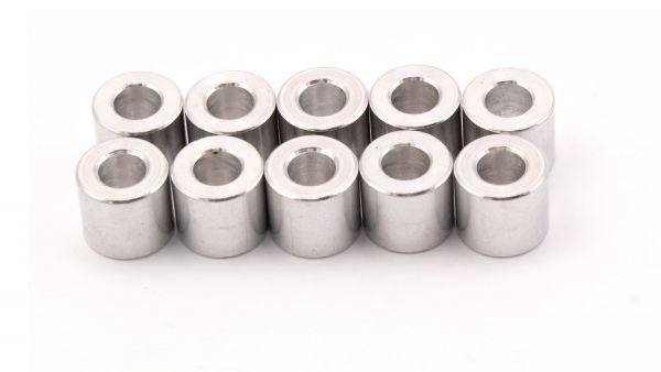 10x Aluminium Distanzhülse M5/9mm