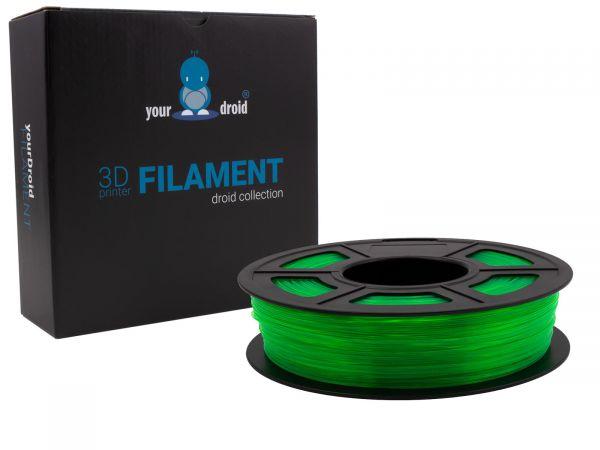 yourDroid filament TPU transparent grün 500g