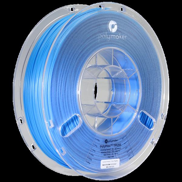 Polymaker PolyFlex TPU95 Filament Blau 1.75mm 750g