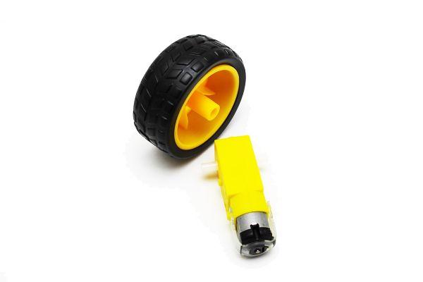 Roboter Auto Reifen inkl. getriebemotor 1:48