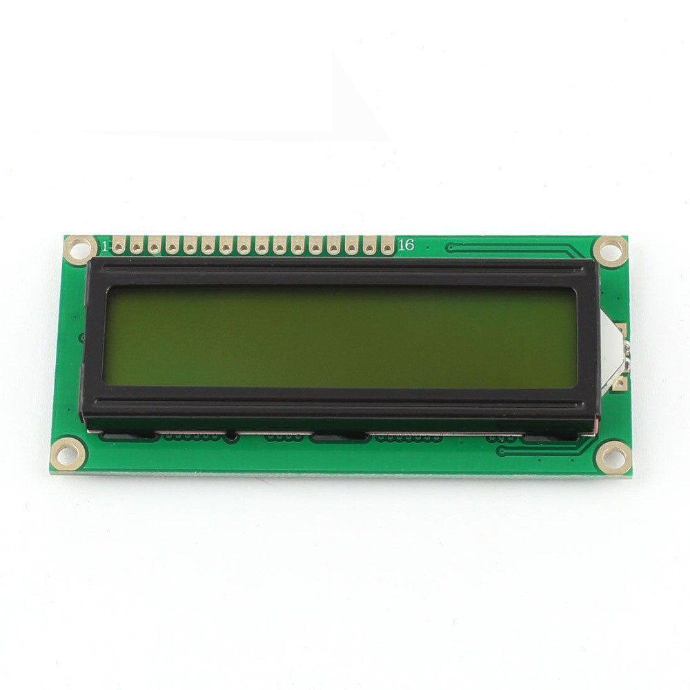 LCD Display Modul 1602 HD44780 Gelb-Grüne Beleuchtung