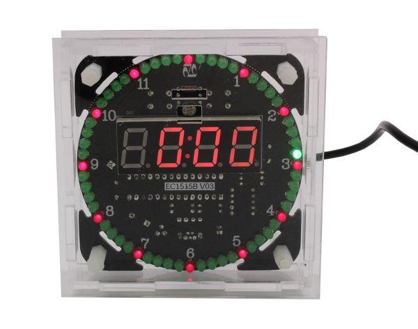 DS1302 Rotation LED Uhr mit Gehäuse