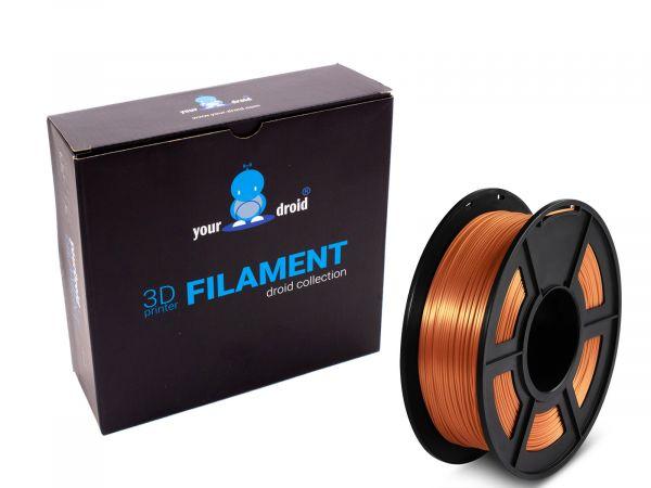 yourDroid BioSilk PLA PLUS Filament Kupfer 1.75mm 1kg