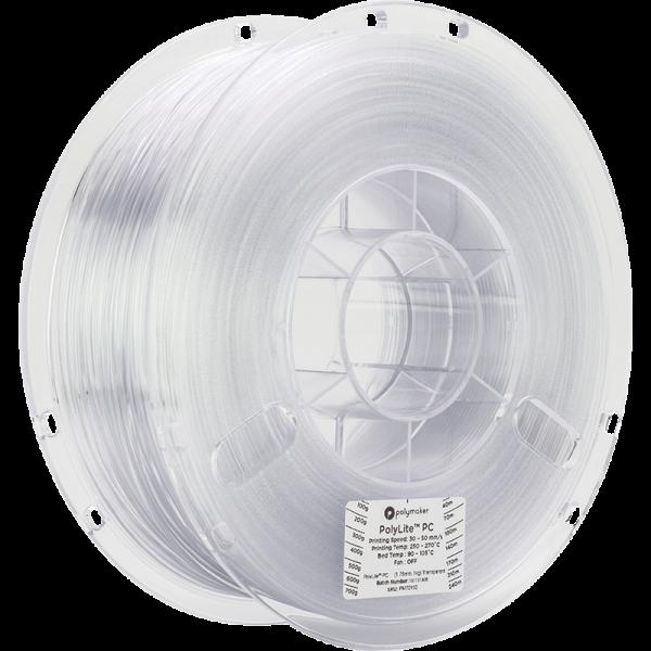 Polymaker PolyLite PC Filament Transparent 1.75mm 1kg