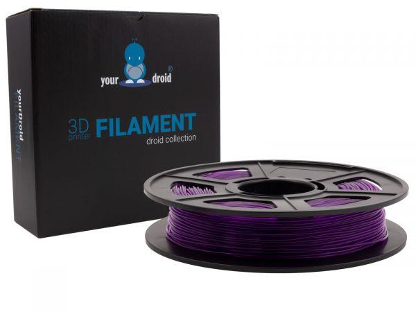 yourDroid-TPU-filament-transparent purple-1.75mm 500g