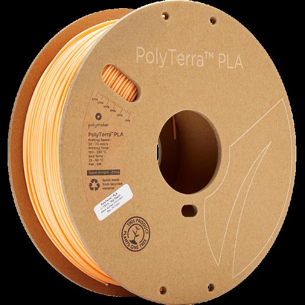 Polymaker PolyTerra PLA Filament Peach 1.75mm 1kg