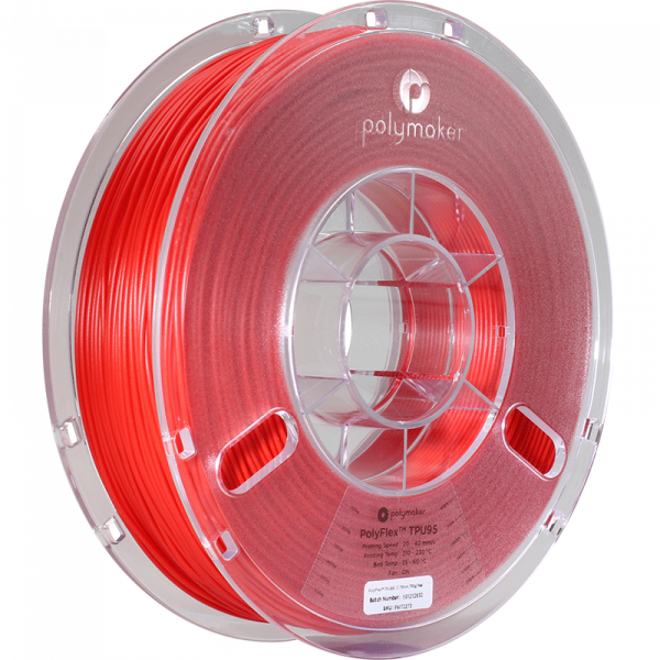 Polymaker PolyFlex TPU95 Filament Rot 1.75mm 750g